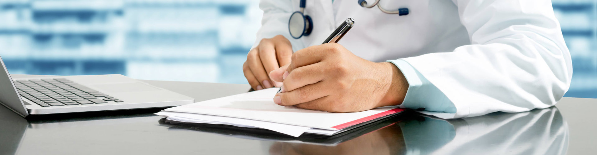 pharmacist writing a prescription