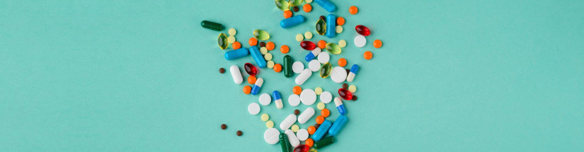 scattered medicines